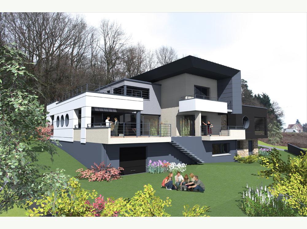 maison le patio architecte robert gomez belfort. Black Bedroom Furniture Sets. Home Design Ideas